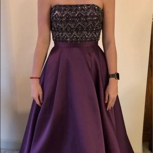 Mac Duggal long purple gown